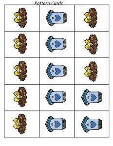 pattern cards bird theme