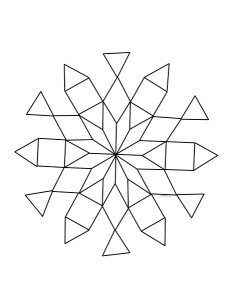 pattern design snowflake