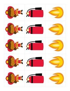 pattern fire themed