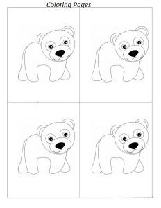 polar bear coloring