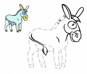 pre writing donkey