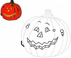 pre writing pumpkin