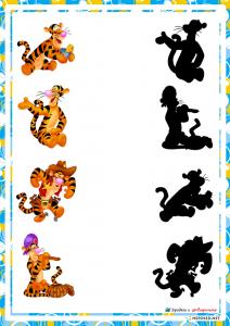 preschool activities shadow match