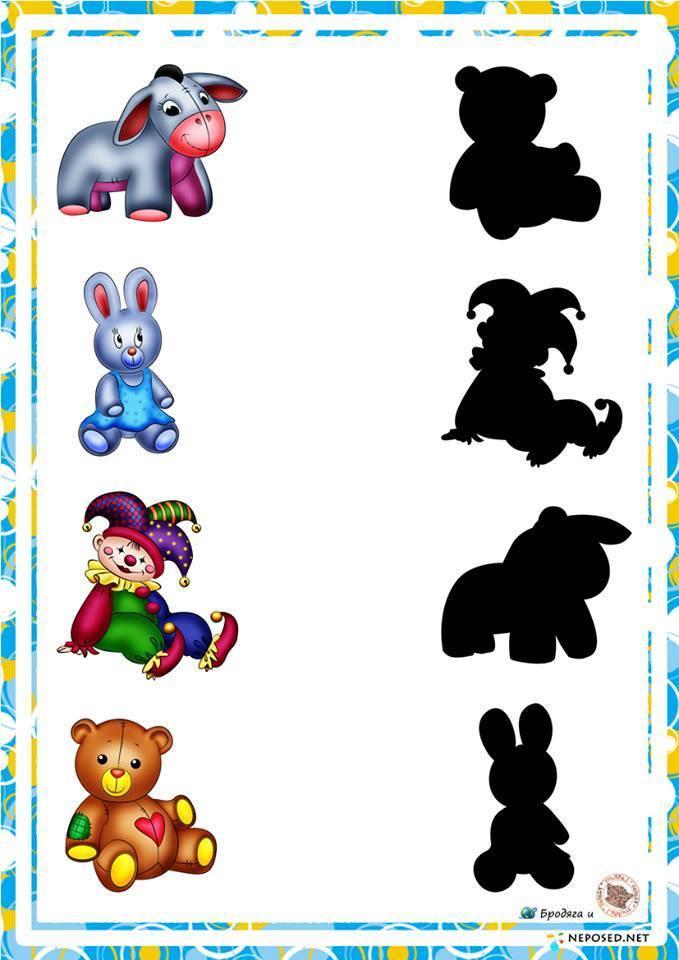 preschool activities shadow matching