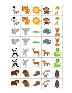 preschool animals  cards