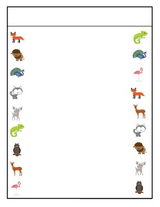 preschool animals  picture match