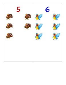 preschool birds number cards