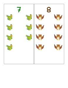 preschool number cards