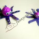 Styrofoam Ball Octopus Craft