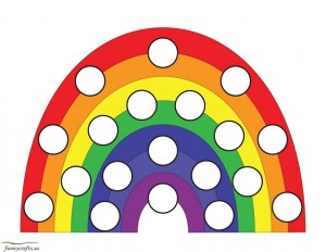 rainbow do a dot activity