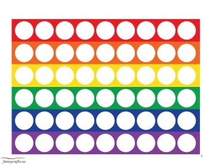 rainbow do a dot for kıds