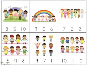 rainbow math exercise