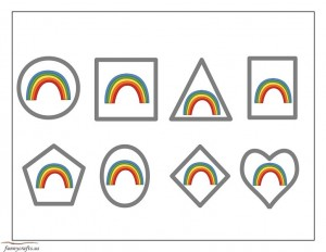 rainbow shapes activities
