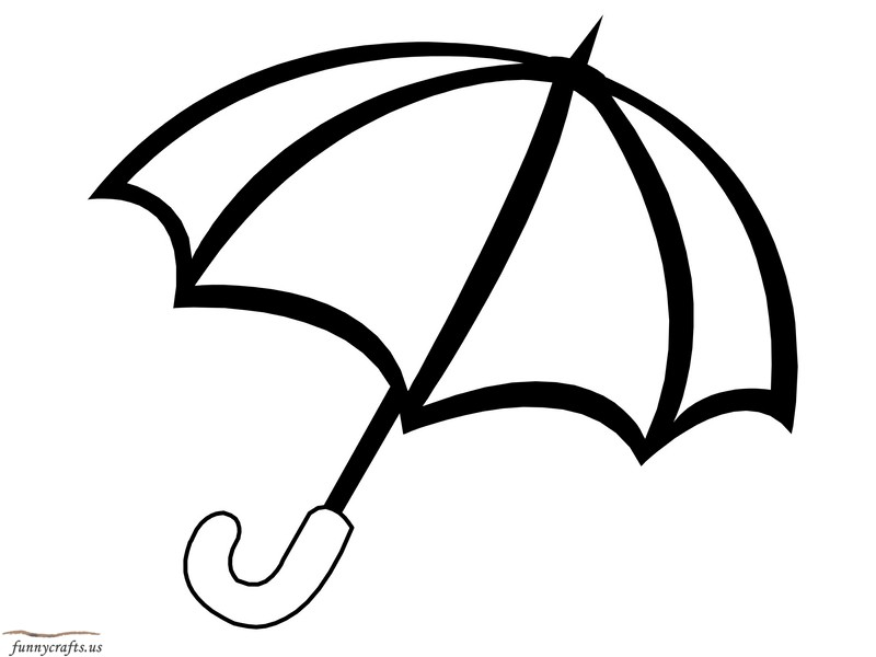 rainbow umbrella coloring page Preschool and Homeschool