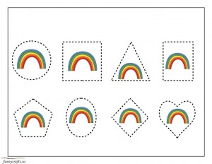 shapes rainbow