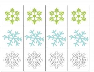 snowflake making pattern