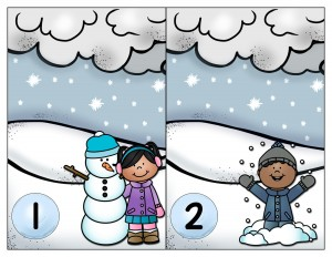 snowflake number card