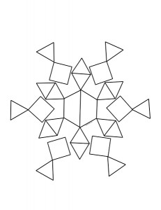 snowflake pattern design activity