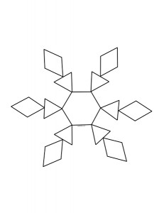 snowflake pattern design for preschool