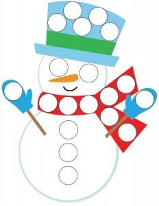 snowman do a dots