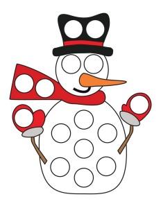 snowman dot a dots