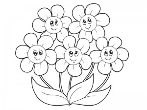 spring coloring page flower
