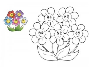 spring coloring page for kıds