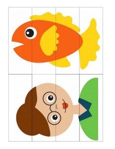 teacher and fısh puzzle