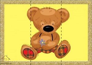 three piece puzzle bear