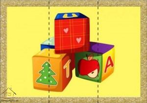 three piece puzzle cube