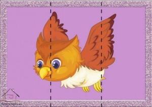 three piece puzzle owl