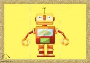 three piece puzzle robot