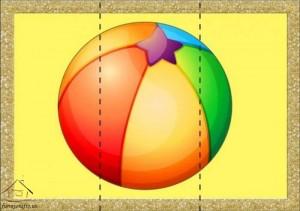 three piece puzzle sea ball