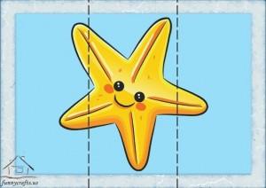 three piece puzzle star