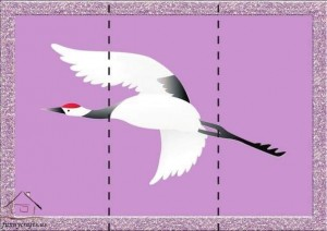 three piece puzzle stork