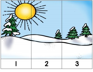 winter puzzle activities