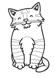 zoo coloring pages cat