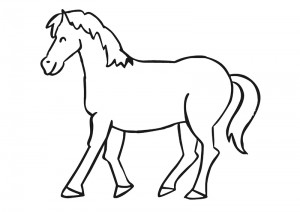 zoo coloring pages horse