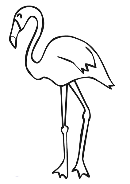 zoo coloring pages stork