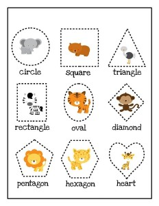zoo shapes activities