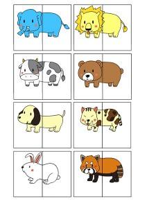 2 piece animals puzzle