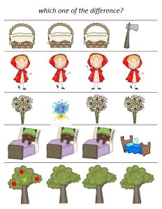 Little red riding hood story activities