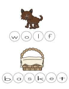 Little red riding hood wolf and basket