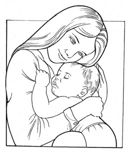 Mother s Day coloring pages for  kıds (5)