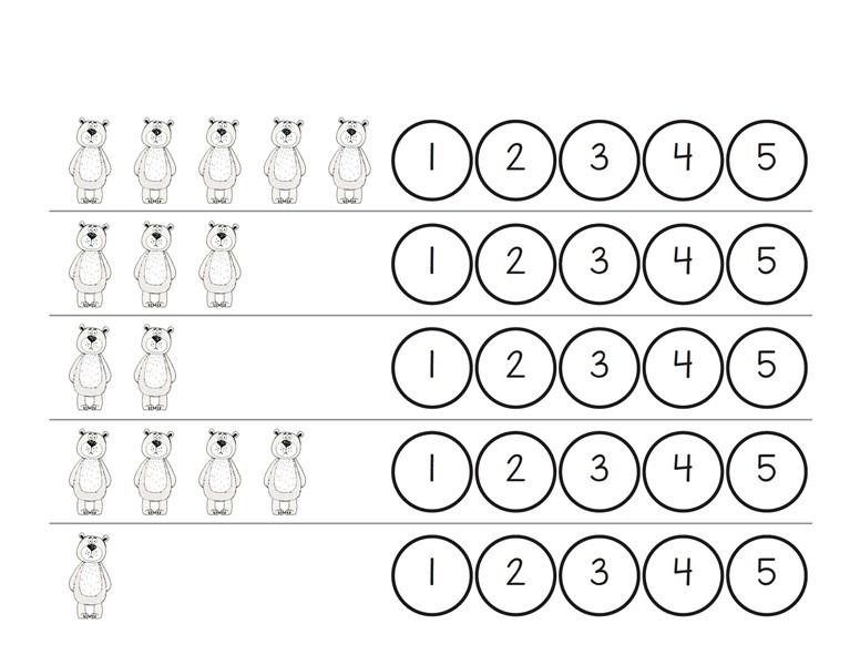 arctic animals counting preschool and homeschool. Black Bedroom Furniture Sets. Home Design Ideas