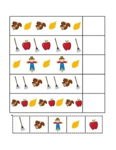 autumn theme activities pattern