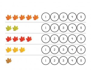 autumn theme counting
