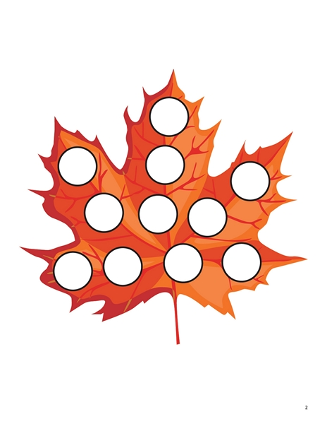 autumn theme leaf do a dot Preschool