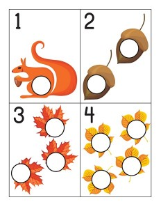 autumn theme number cards