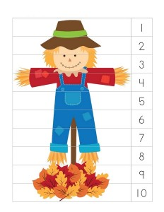 autumn theme number sequence puzzle